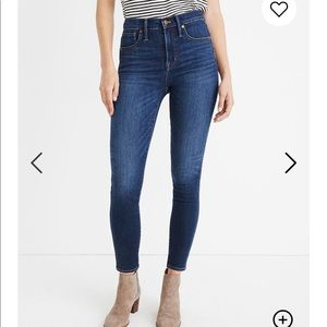 """Madewell 10"""" High-Rise Skinny Jeans Size 32"""